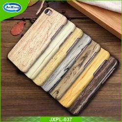 2017 Padrão de madeira personalizado PU couro cobre telemóveis inteligentes para iPhone 7 para S8/S8 Plus