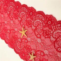 Rivestimenti elastici smerlati Lace floreale Garter Lingerie e Sequin nuziale Tessuto per accessori di abbigliamento di moda