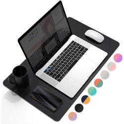 アマゾン熱い販売のDual-Sided多機能の革机の執筆マットのマウスパッド