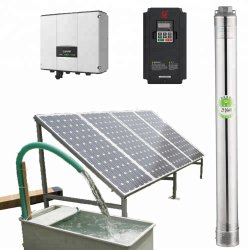1HP de 2HP de 3HP Solar 5.5HP pozo profundo bomba de agua con 1-20 M3/H el flujo de agua con el kit completo