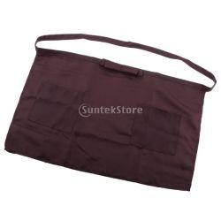 Logotipo personalizado Preto avental de algodão Denim Cozinha Mulher Trabalhar metade avental de cintura