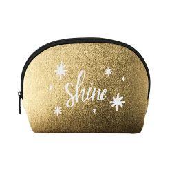 Moda saco cosmético, saco de Maquiagem personalizada, neopreno metálicas caso Cosméticos