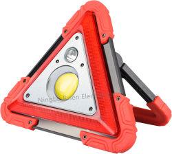 مصباح مثلث قابل لإعادة الشحن USB فائق السطوع، مصباح عمل، مصباح طوارئ السيارات بالفوانيس تحذير مصباح عمل مصباح LED المتنقل COB للفحص