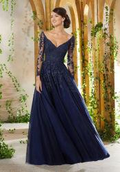 Ballkleid-Spitze-Mieder-Mutter Braut-Kleid-der arabischen moslemischen Abend-Kleider