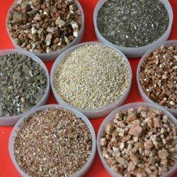 De Levering die van de fabriek Plantend de Raad die van de Materialen van de Wrijving van het Stootkussen van de Rem Gebruikt Gouden en Zilverachtig Uitgebreid Vermiculiet vuurvast maken tuinieren