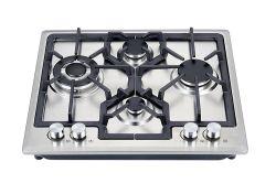 La Chine fournisseur cuisinière à gaz 4 Brûleur Sabaf acier inoxydable de haute qualité de la Chine avec le soutien cuisinière à gaz de carter en fonte