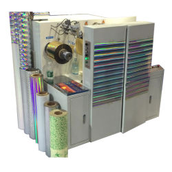 Holograma personalizados etiqueta autocolante máquina de impressão, as películas PET Gofragem holográfico a máquina