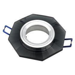 까만 육각형 수정같은 전등 설비 GU10 MR16 Downlight 이음쇠 (LT2125)