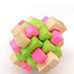 3D de l'éducation des adultes en bois iq Burr puzzle Cadeaux Teaser du cerveau des enfants Jouets