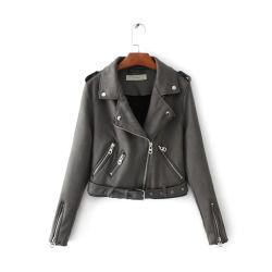最新のデザイン偶然のロコモーティブの革防水暖かいオートバイの乗馬のジャケット