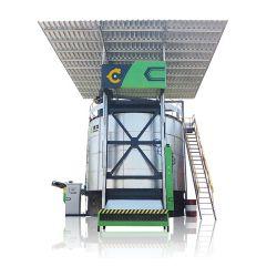 2021 새로운 통합층 치킨 마ure 퇴비 머신 에어로빅 발효 치킨 매너지 유기농 비료