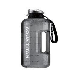 BPA 불포함 물병 2.2L 동기부여 플라스틱 갤런 물병 시간 마커 포함