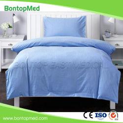 Hotel/Hospital Listra de algodão Bed Cobrir Set/edredão cobrir