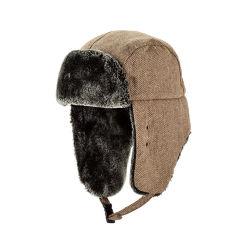 Trooper Hat スキーウィンドプルーフイヤフラップフェイクファー冬用帽子