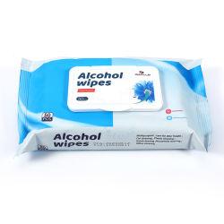 Tessuto bagnato dell'alcool a gettare antibatterico di superficie mobile di Sanitizier della FDA