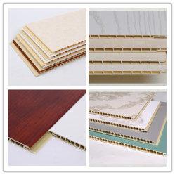 中国の製造者内部の装飾的な400*9mm PVC壁パネルは天井板耐火性Spcの壁パネルのTecho De PVC Wallの装飾を薄板にした