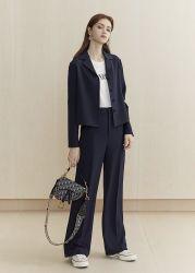 Moda Feminina Entalhe elegante design de lapela curto de negócios da noite no Outono de Mola da nova senhora casacos