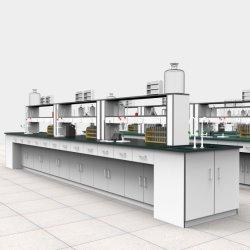 Instituto de Investigação do Hospital Escola de aço personalizado química de metais madeira resina epóxi biológica Ignifugação montado no chão mobiliário de trabalho de Laboratório Central/