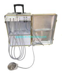 Unité de la turbine dentaire portable avec compresseur à air de séchage de lumière LED Handpiece