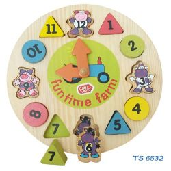 Les jouets éducatifs préscolaires horloge en bois