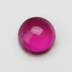 precio de fábrica 5# sintético redondo de color rojo rubí cabujón de Piedra de corindón