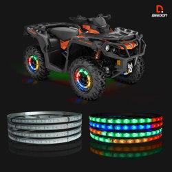 Comando Bluetooth Única Linha LED piscando carro roda a roda do anel de luz
