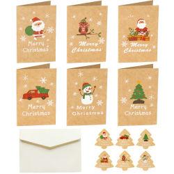Feliz Navidad tarjeta de mensaje de felicitación Tarjetas de regalo con etiquetas