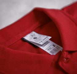 Kundenspezifischer gesponnener waschender RFID Sorgfalt-Kennsatz des Drucken-Satin für Kleidung