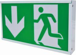 LED-nachladbares Notüberzogenes Eisen AcrylEvacation Anzeige-Ausgangs-Zeichen-Lampe