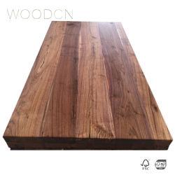 Parte superiore della cucina incollata bordo di legno solido della noce nera