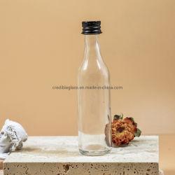 100ml 미니 소형 샘플 알코올 주스 음료 글래스 와인 50ml 나사 캡이 있는 술병