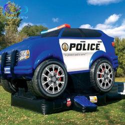 Barato Combo de carro de polícia insuflável exterior Kids Jumping Castle Bounce House Deslize Bouncer inflável com deslize