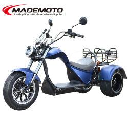 Venda por grosso de 4000W potente pneu de gordura 3 TRÊS RODAS CEE Motor Duplo China adulto não eléctrico Mobility 5000W Scooter Elétrico Motociclo do Picador