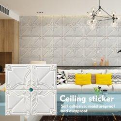 La decoración del hogar de diferente color interior de espuma de PE PVC Adhesivos de pared de fondo de pantalla 3D