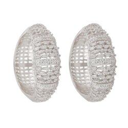 Junge Frauen-Mädchen-Liebes-grosse Kristallband-Ohrring-formale Schmucksache-Zubehör