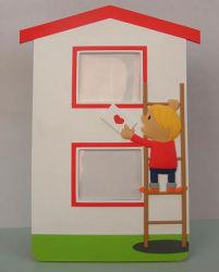Alta qualidade de plástico 3Promocionais D PVC OEM Cartoon Photo Frame (PF-016)