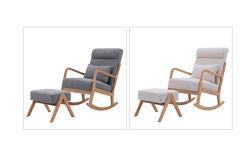 Cadeira de balanço de madeira maciça moderno Hotel Pequeno Mobiliário doméstico cadeira de balanço de Carvalho (OW-094)