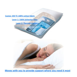 Идеальный поддержки воды подушки / Waterbase постельные принадлежности подушки Китая на заводе