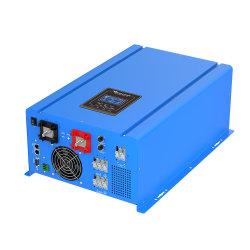 격자 단일 위상 DC AC 순수한 사인 파동 LCD에 의하여 지상 거치된 태양 에너지 시스템 떨어져 MPPT 태양 변환장치 6000W는 태양 전지판을 연결한다