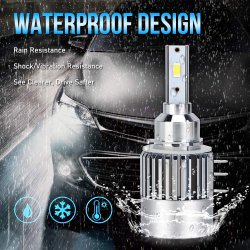 Gli errori di Canbus delle lampadine del faro di H15 LED liberano i kit bianchi luminosi eccellenti di conversione della lampadina del faro dei chip 10000lm 6500K LED di 80W Csp per il xeno NASCOSTO alogeno dell'automobile