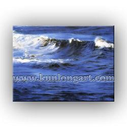 De Kunst van het Canvas van het Landschap van het Olieverfschilderij van het overzeese Zeegezicht van Golven (klse-008)
