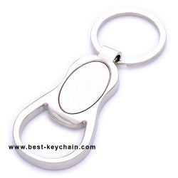병따개 Oval-Shaped 에폭시 Keychain 선전용 금속 (BK11173)