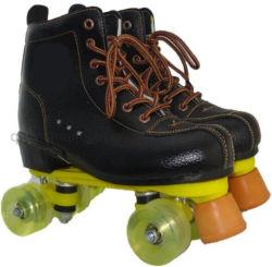 OEMのゴム製車輪牛革上部の二重列のローラースケート