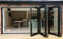 Diseño de la seguridad francesa corrediza de aluminio de doble puerta Bifolding Casement