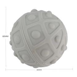 Gesunde weiche Note elektrische Vibraing Silikon-Gummi-Yogamassager-Kugel