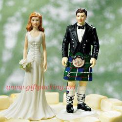 El novio de Kilt figurita de Adorno de Torta de bodas/Figurita