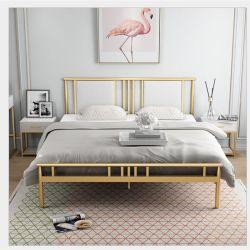 [نورديك] بيتيّة غرفة نوم فندق ميزانية [دووبل بد] [ورووغت يرون] ذهبيّة حديد إطار سرير 0304