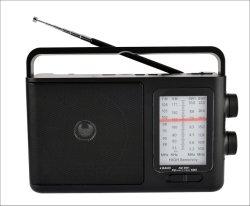 USB/TF/Rechargeable/Bluetooth 스피커를 가진 FM/Am/Sw1-2 4 악대 휴대용 라디오