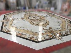 Fabricante chino Lobby personalizado Hotel Interior comercial de azulejos de mármol natural por chorro de agua medallón suelos de piedra