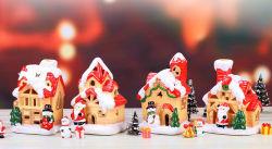 Decorazione domestica dell'interno di natale della resina dei giocattoli dei bambini della decorazione della decorazione del fumetto di natale